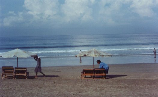 Kuta Beach in the morning.