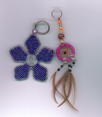 Beaded Keyrings